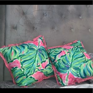 Lily Pulitzer pillows
